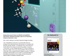 Astatine on the cover of the Physical Chemistry Chemical Physics journal
