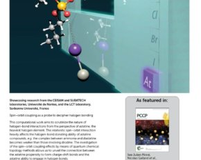 L'astate en couverture de la revue Physical Chemistry Chemical Physics.