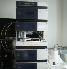 HPLC coupled with UV/Gamma detection